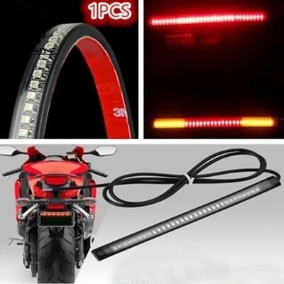 Flexible Motorcycle 48LED Light Strip Rear Tail Brake Stop Turn Signal Lamp