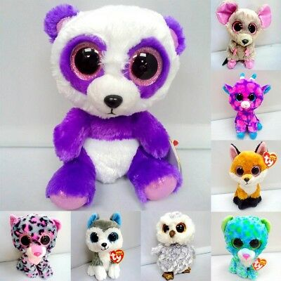 "Fashion 6.5"" TY Beanie Boos Owl Cute Aninals Plush Stuffed Doll Toy mmj"
