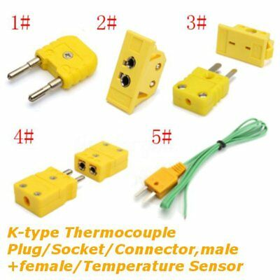 K-type Thermocouple Plug/Socket/Plug+Socket/Connector Male + Female/Temperature