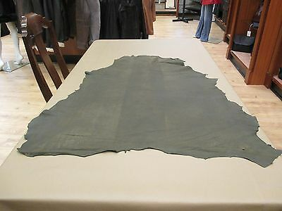 Fabulous Olive Green Very soft Hide Nubuck with a distressed Look  Ref. SOL 32.