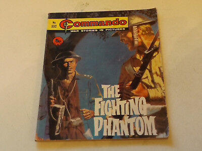 Commando War Comic Number 552,1971 Issue,v Good For Age,46 Years Old,very Rare.