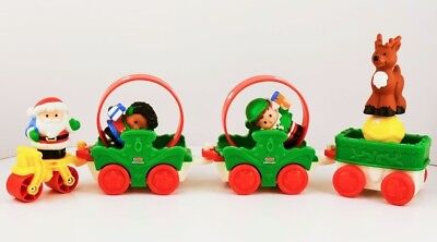 Fisher-Price M7484 Little People Christmas Parade Playset Santa Reindeer Figure