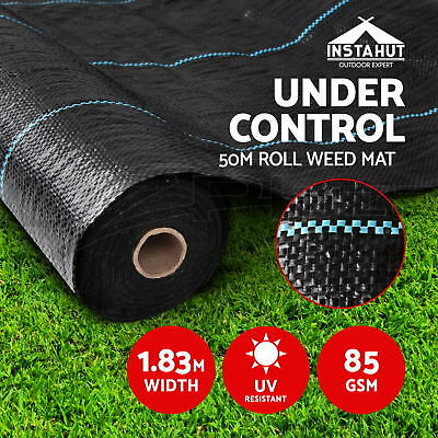 1.83m x 50m Weedmat Weed Control Mat Woven Fabric Gardening Plant PE