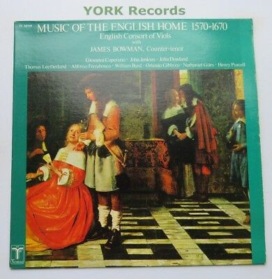TV 34709 - MUSIC OF THE ENGLISH HOME 1570-1670 - John Bowman - Ex Con LP Record