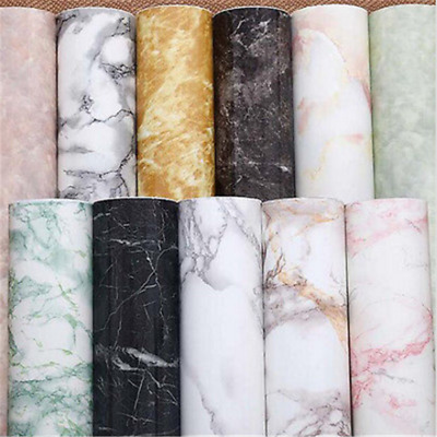 Charm Marble Paper Self Adhesive Glossy Worktop Peel Stick Wall Stickers