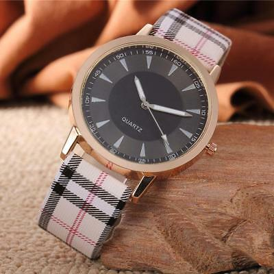 New Women 's Fashion Dial Leather Band Analog Quartz Round Bracelet Wrist Watch