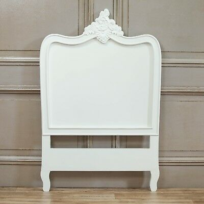 French Style White 3ft Single Size Shabby Chic Bed Headboard