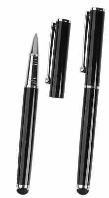 2x Black Pro Stylus with BallPoint Pen ULTRA SMOOTH Rubber Tip for Tablets iPad