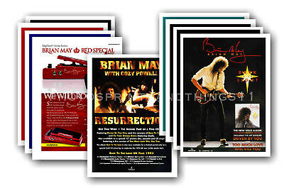 BRIAN MAY - 10 promotional posters  collectable postcard set # 1