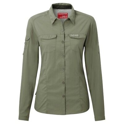 Craghoppers Nosilife Adventure Langarm Bluse soft moss Damen Hemdbluse Outdoor
