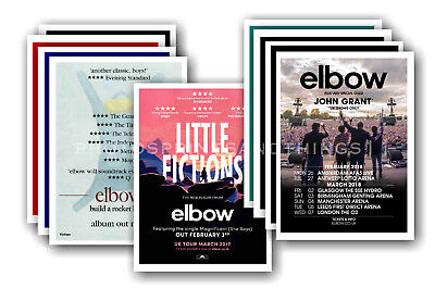 ELBOW - 10 promotional posters  collectable postcard set # 1