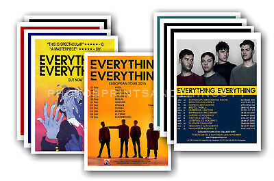 EVERYTHING EVERYTHING - 10 promotional posters  collectable postcard set # 1