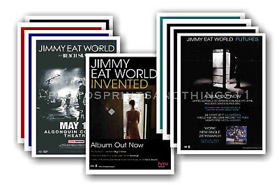 JIMMY EAT WORLD - 10 promotional posters  collectable postcard set # 1