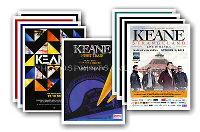 KEANE - 10 promotional posters  collectable postcard set # 1