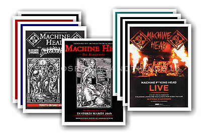 MACHINE HEAD - 10 promotional posters  collectable postcard set # 1
