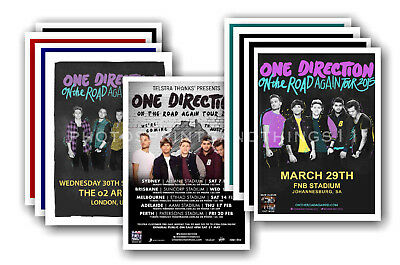 ONE DIRECTION - 10 promotional posters  collectable postcard set # 1