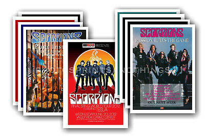 SCORPIONS - 10 promotional posters  collectable postcard set # 1