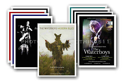 THE WATERBOYS - 10 promotional posters  collectable postcard set # 1
