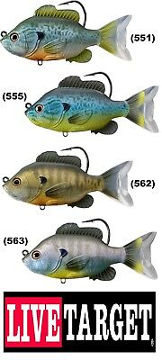 Live Target Bluegill Pumpkinseed Sunfish Swimbait SFS Soft Any Color Size