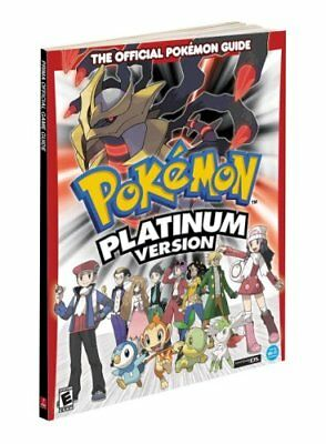POKEMON PLATINUM Version Official Strategy Guide book + Poster NEW