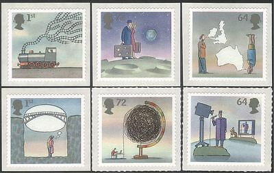 GB 2007 Train/Railway/Bridge/TV/Web/Moon/Transport/Inventions 6v set s/a n43521