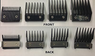 Wahl Clipper Attachment Comb Set (Metal Backed) 1,2,3,4 *new*