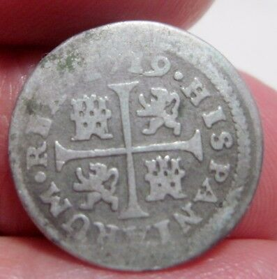 1719 (Spain) 1/2 Real (Silver)