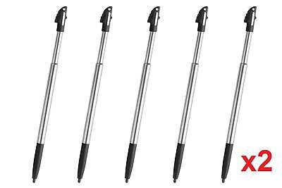 10x 3DS XL LL Black Silver Stylus Metal Retractable Touch Pen for Nintendo - New
