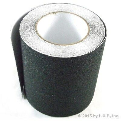 "6"" x 30' Safety Non Skid Grit Grip Tape Anti Slip Roll Black Sticker Adhesive"