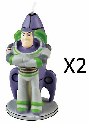 "Wilton Disney Pixar Toy Story Birthday Cake Candle Buzz Lightyear 3-1/4"" (2Pack)"