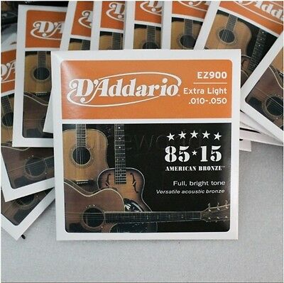 EZ900 Extra Light Bronze Acoustic Guitar Strings 10 - 50 D'Addario