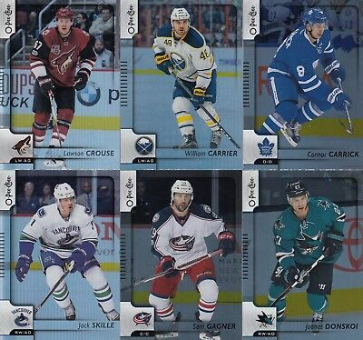 2017-18 O-Pee-Chee OPC Rainbow Foil Parallel cards [#1-500] - U Pick from List