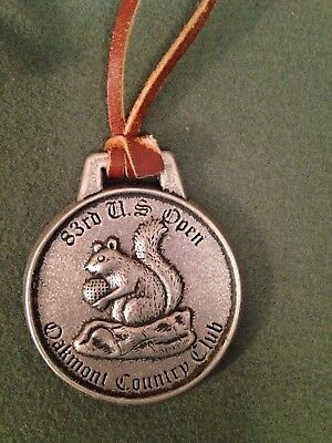 Vintage 1983 U.s. Open Oakmont Country Club Pewter Bag Tag  83Rd Open