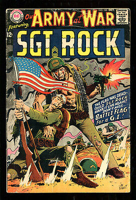 Our Army At War 185 4.5 Vg+ 1967 Dc Joe Kubert Flag Cover Sgt Rock Easy Company