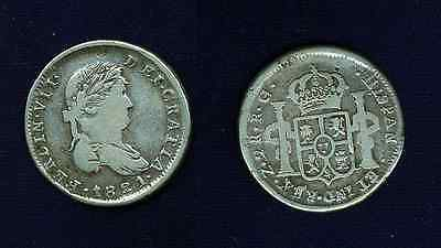 Mexico War Of Independence  Zacatecas 1821-Rg  2 Reales Silver Coin