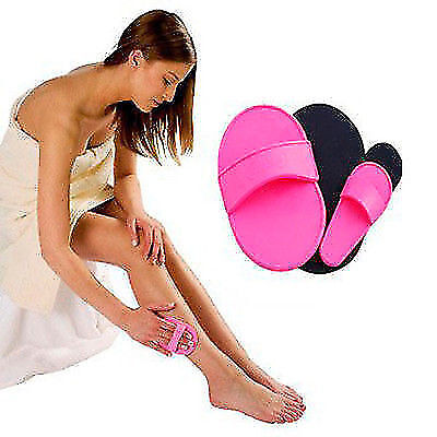 Face Arm Skin Smooth Legs Painless Hair Buffer Natural Removal Exfoliator Pads