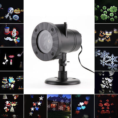 Outdoor LED Laser Stage Chrismas Halloween Light 12-Patterns Snowflake Projector