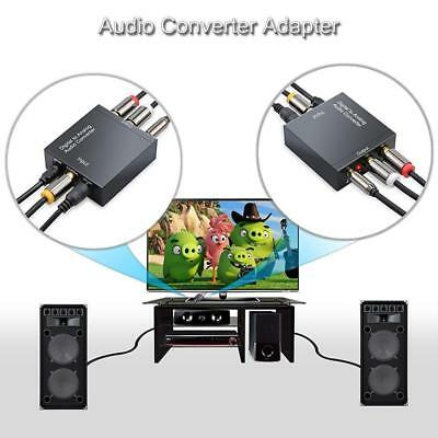 Digital Optical Coaxial Toslink Signal to Analog Audio Adapter Converter RCA IJ
