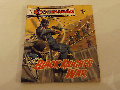 Commando War Comic Number 566,1971 Issue,v Good For Age,46 Years Old,very Rare.