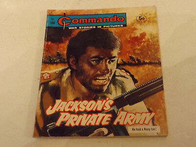 Commando War Comic Number 586,1971 Issue,v Good For Age,46 Years Old,very Rare.