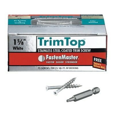 "FMTT158-75WH 75PK 1-5/8"" Trim Screws"