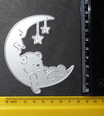 Moon/Star/Teddy/Bear/Sleeping/ Metal Cutting Die /silver colour