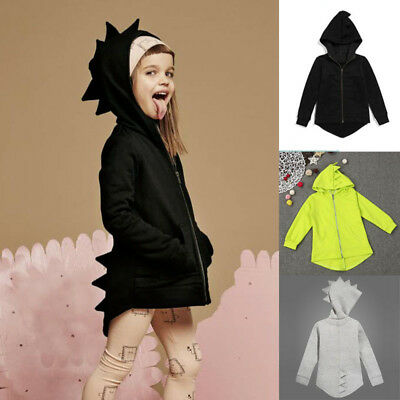 Baby Kids Toddler Boys Girls Dinosaur Hoodie Hooded Jumper Outwear Jacket Coat