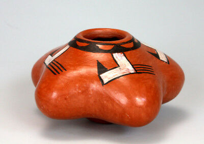 Hopi American Indian Pottery Small Squash Bowl - Rachel Sahmie
