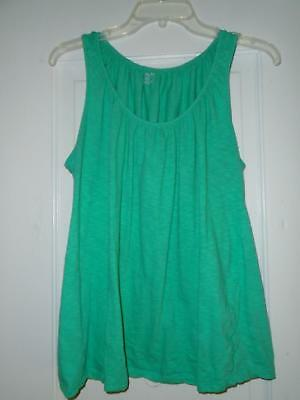 Nursing Top Sz XL Motherhood Nursing Sleeveless Green Peasant Neckline