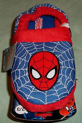 Marvel Ultimate Spider-Man Slippers Boys L 2/3 New NWT