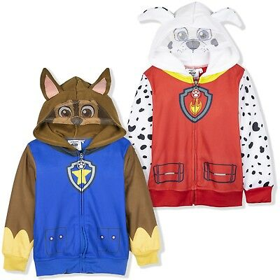 Paw Patrol Boys Hoodie Hooded Jumper Character Chase Marshall Costume 2-6 Yrs