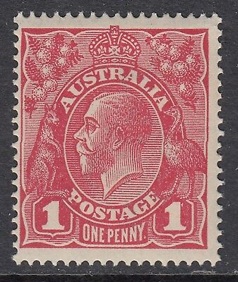 1914 1d RED KGV Inverted Single Watermark, Mint Never Hinged