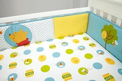 """Disney Baby Winnie The Pooh """"Pooh's Play Day"""" Unisex Secure-Me Crib Bumper New"""