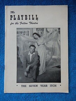 The Seven Year Itch - Fulton Theatre Playbill - May 18th, 1953 - Tom Ewell